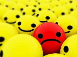 Sad-smiley face